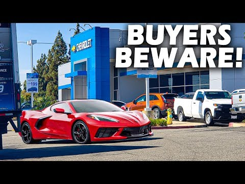 YOU WON'T BELIEVE MARKUPS ON THE $50,000+ MID-ENGINE C8 CORVETTE!
