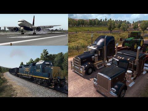 Simulation Sundays   American Truck Simulator   X-Plane 10 Flight Simulator   Train Sim World
