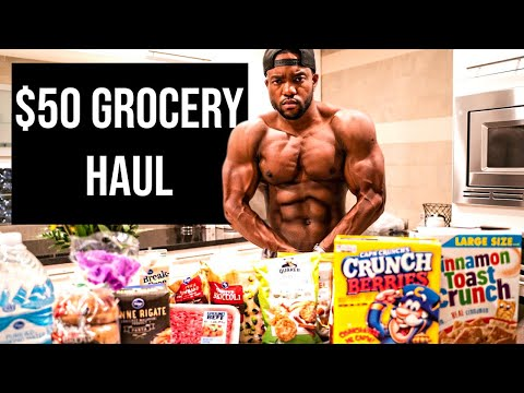 MY BULKING DIET: INSANE CHEST WORKOUT | $50 GROCERY HAUL thumbnail