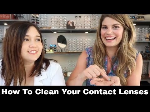 Cleaning Contact Lenses Tips