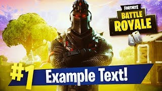 """FREE BLACK KNIGHT """"VICTORY ROYALE"""" THEMED THUMBNAIL TEMPLATE! - (FREE Fortnite GFX Template!)"""