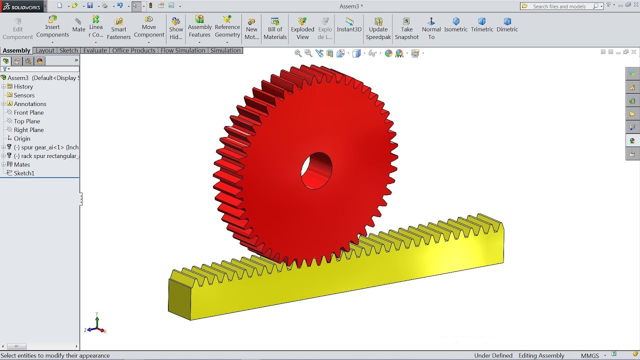 How To Create Rack And Pinion In Solidworks - Racks Blog Ideas