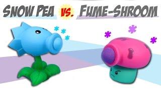 Plants vs. Zombies Snow Pea Shooter VS. Fume-Shroom Ball Popper