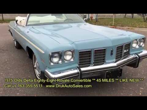 1975 Olds Delta Eighty-Eight Royale Convertible *45 ACTUAL MILES* LIKE BRAND NEW
