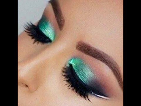 Maquillaje de noche para vestido verde turquesa
