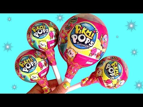 Pikmi Pops Surprise Giant Lollipop by Moose Toys and Funtoys with Pikmi plushies pop