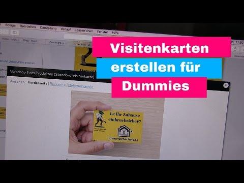 Visitenkarten Erstellen Für Dummies Youtube