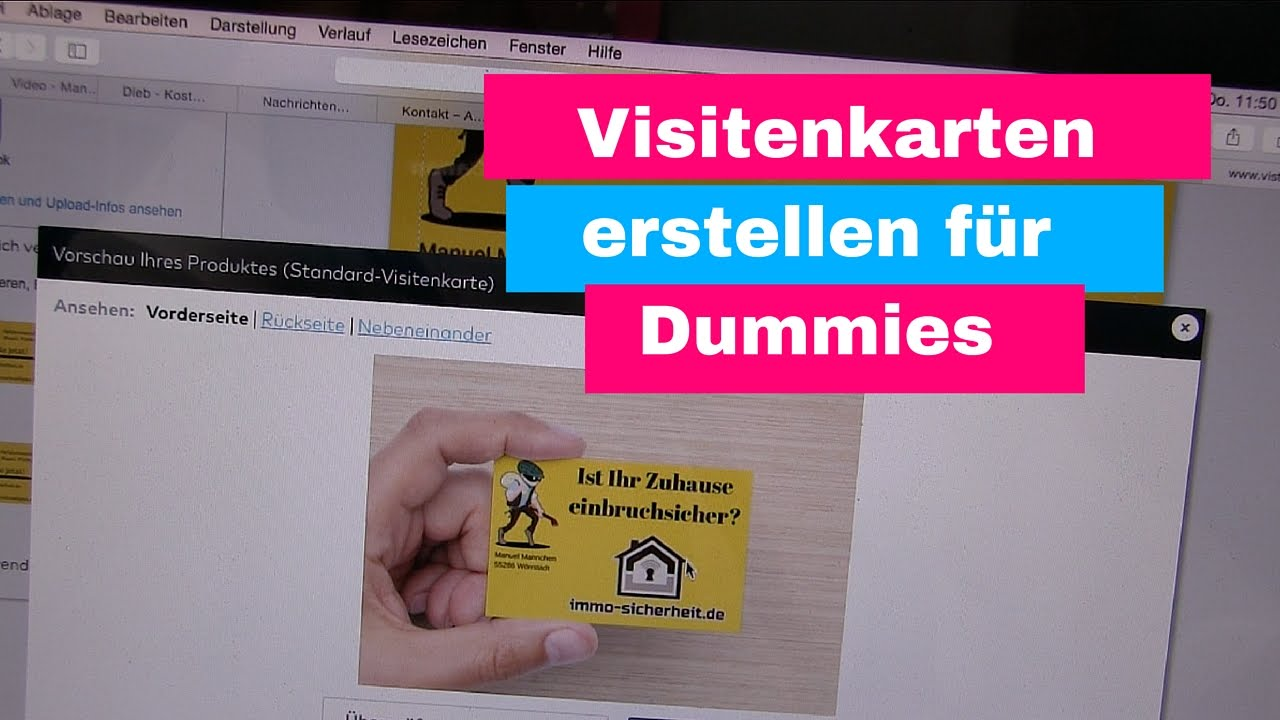 Visitenkarten Erstellen Für Dummies