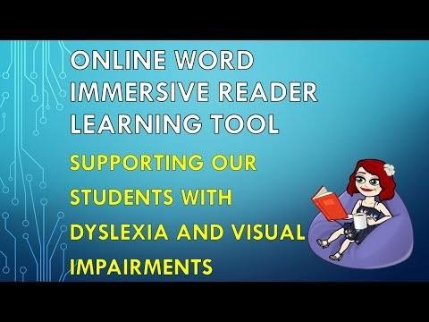 Immersive Reader Learning Tool In Online Word