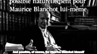 Giorgio Agamben on Maurice Blanchot (English Subs) Thumbnail