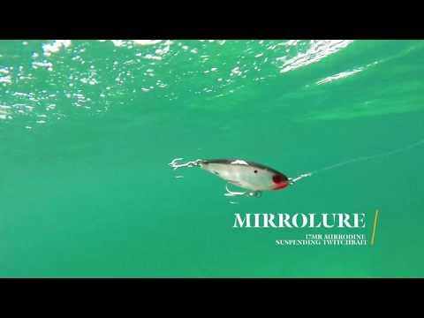 How Lures Swim: MirrOlure 17MR Mirrodine Suspending Twitchbait