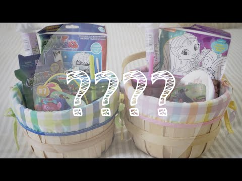 WHAT'S INSIDE MY KIDS EASTER BASKET🐰  2018
