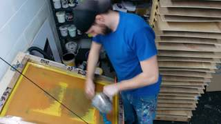 Screen Printing Time Lapse - Dogfish Media