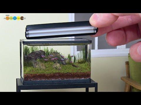 DIY Miniature Aquarium Fish Tank ミニ�ュアアクアリウム水槽作り