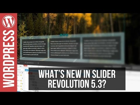 What's New In Slider Revolution 5.3 - Object Library, Layer Groups & More - 동영상
