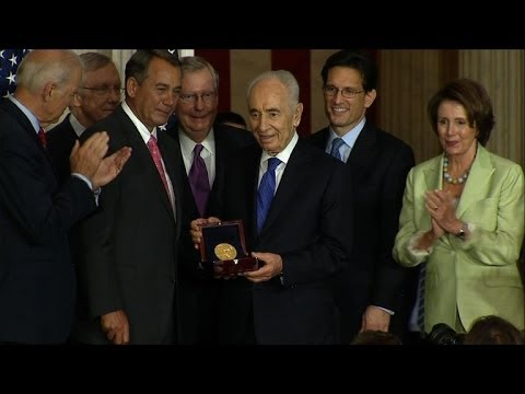 Israel's Peres receives US Congressional Gold Medal