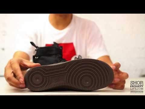 Nike SF AF1 MID Black - Hazelnut Unboxing Video at Exclucity