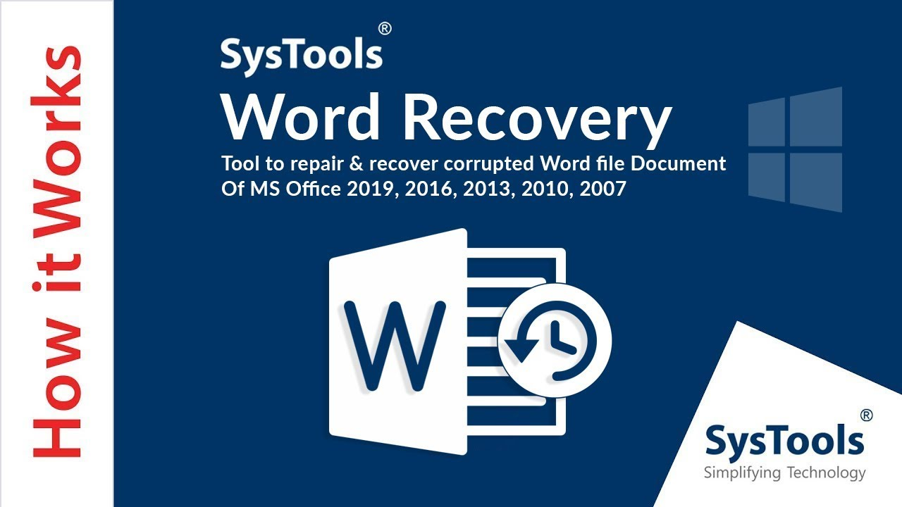Word Recovery Tool to Repair MS Word Document File Corruption