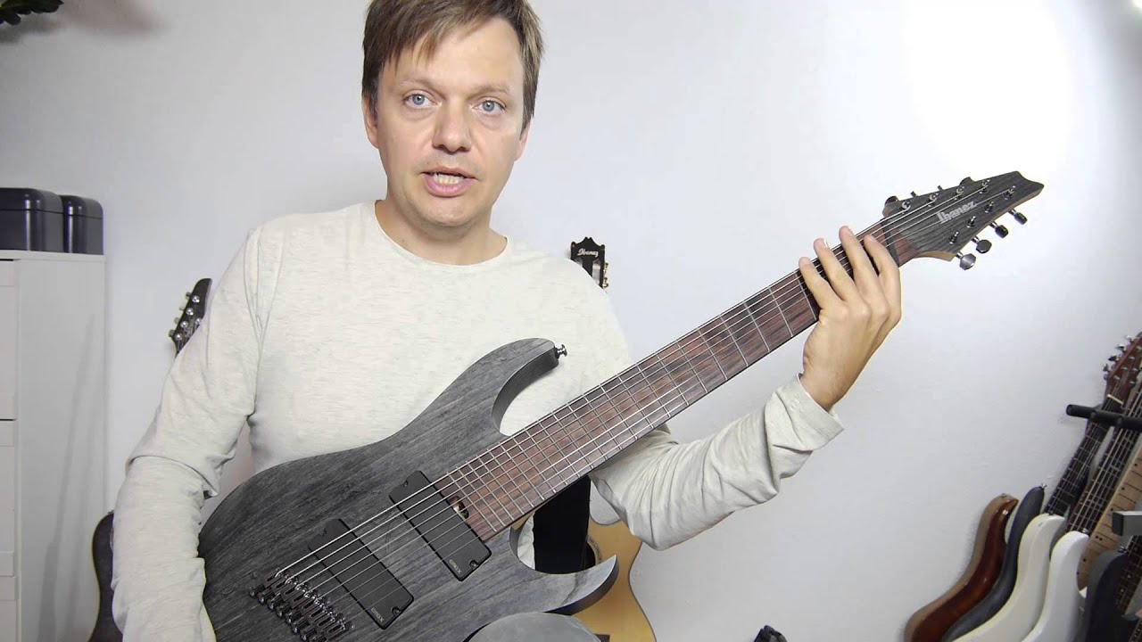 ibanez fanned fret 8 string rgif8 video review english youtube. Black Bedroom Furniture Sets. Home Design Ideas