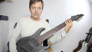 ibanez fanned fret 8 string rgif8 video review english
