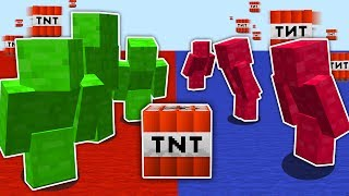 Minecraft RED vs BLUE TNT WARS ... (INSANELY GOOD)