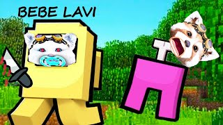 BEBE LAVI ISI TRADEAZA TATAL IN MINECRAFT AMONG US