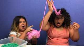 EXTREME SLIME DARES! (GONE WRONG) SLIME HAIR DARE