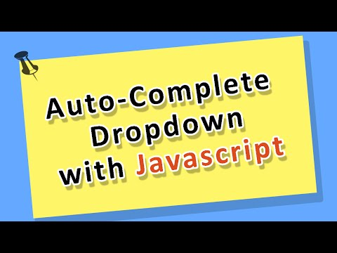javascript Tutorial - Building an autocomplete Drop Down Men