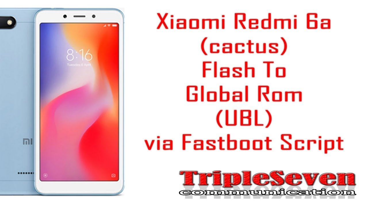ดาวน์โหลดเพลง Cara Flash Redmi 6a (cactus) Ke Global Via Fastboot