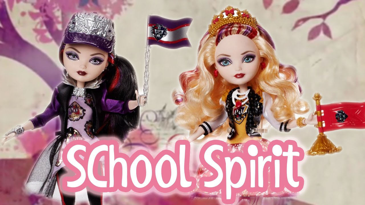ever after high school spirit apple white and raven queen ever after high school spirit apple white and raven queen dolls review