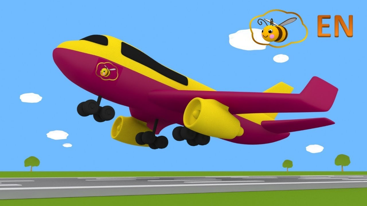 Airplane For Kids Toddlers Babies Educational Cartoon Surprise Egg Toy Youtube