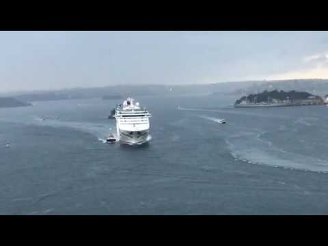 P&O's Pacific Explorer arrives in Sydney for the FIRST time