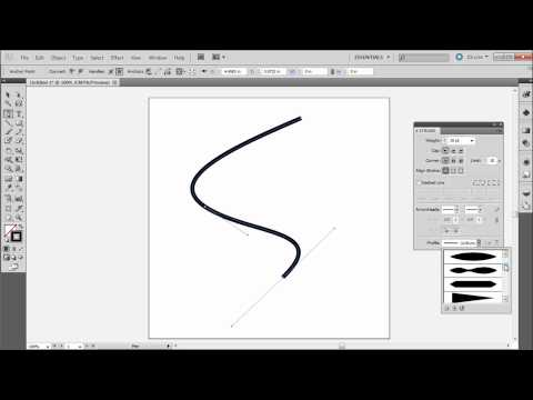 60 Second Illustrator Tutorial : Tapered And Elegant Lines -HD-