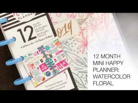 Watercolor Floral: Mini Happy Planner Flipthrough (Joann Fabrics Exclusive)