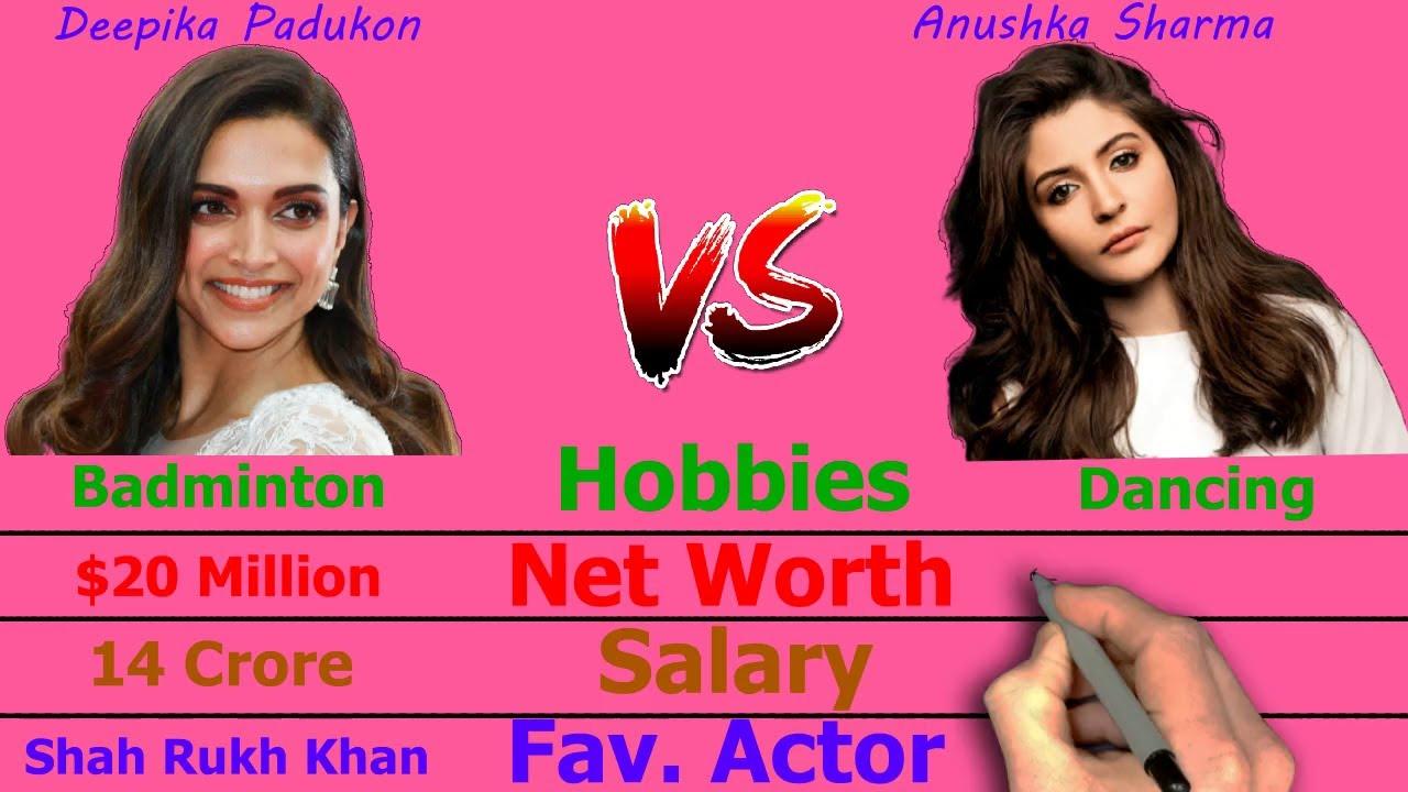Anushka Sharma Vs Deepika Padukone Comparison - Blacc Tv ...