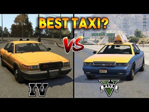 GTA 5 VS GTA 4 : WHICH IS BEST TAXI?