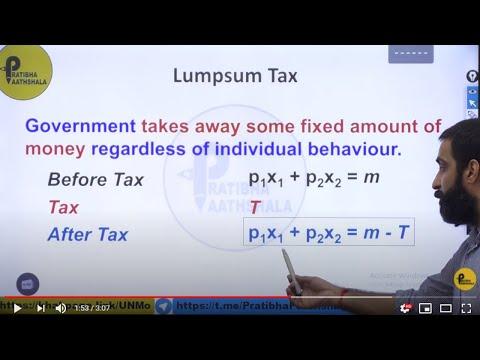 Lumpsum Tax and