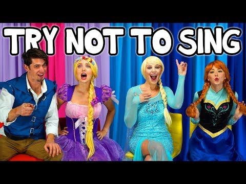 TRY NOT TO SING ALONG TANGLED VS FROZEN MOVIE SONGS Totally TV Dress Up Characters
