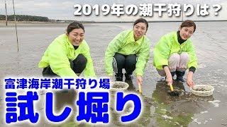 2019年3月9日オープン予定の富津海岸潮干狩り場で、報道陣を招いての試...