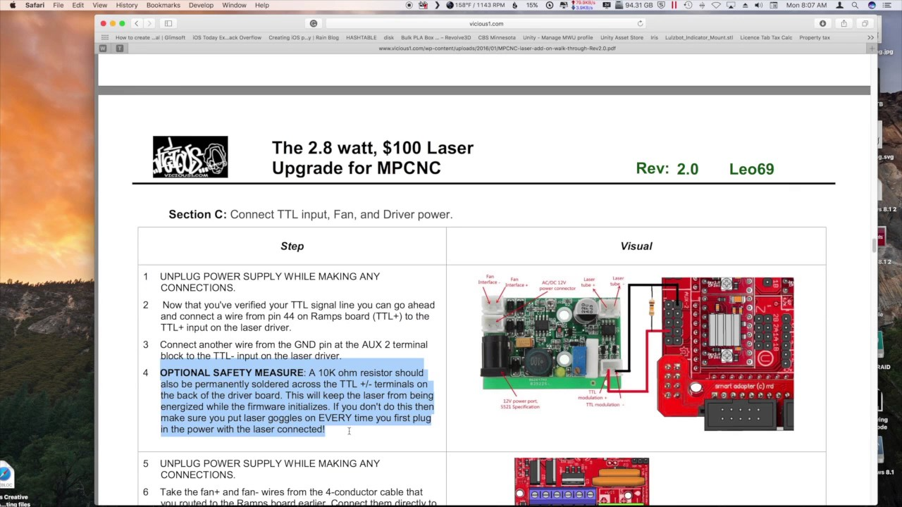 Laser Ramps 1 4 Wiring Guide And Troubleshooting Of Diagram Mostly Printed Cnc Mpcnc Part 8 Re Youtube Rh Com Inductive 14 End Stops