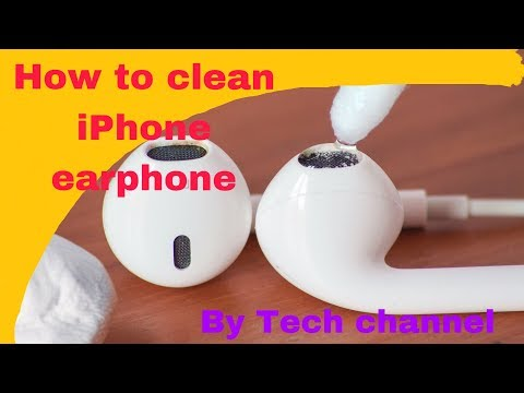 How to clean iphone earphone || Tech channel