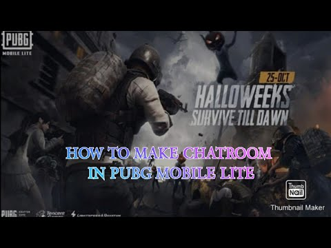 PUBG MOBILE LITE Ll HOW TO JOIN CHAT ROOM IN PUBG MOBILE LITE