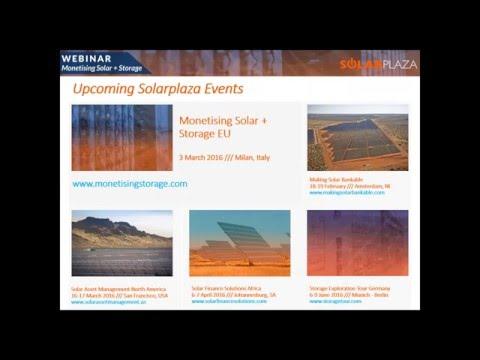 Webinar Monetising Solar + Storage