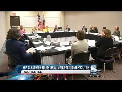 RIT on TV: Congresswoman Louise Slaughter promotes Women in Business - WROC