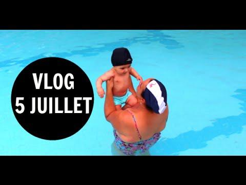 Vlog premiere piscine bebe course 5 juillet youtube for Piscine 5 juillet