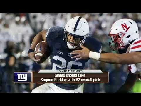 Will the Giants take Saquon Barkley with the 2nd pick in the NFL Draft  073948102