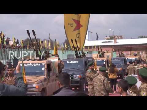 Syria: Thousands attend YPG military parade celebrating victory over IS