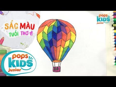 Sắc Màu Tuổi Thơ – Tập 47 – Bé Tập Vẽ Khinh Khí Cầu | How To Draw Colorful Air Balloons
