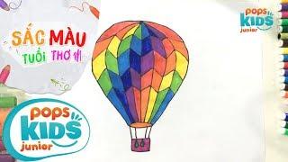 Sắc Màu Tuổi Thơ - Tập 47 - Bé Tập Vẽ Khinh Khí Cầu | How To Draw Colorful Air Balloons