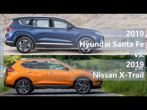 2019 Hyundai Santa Fe Vs 2019 Nissan X-Trail (technical Comparison)